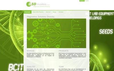 Webdesign aus Wien: Design und Umsetzung im Auftrag eines Partners; Kunde: DSD Pharma GmbH