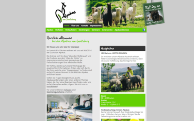 Webdesign aus Wien: Design und Umsetzung des Relaunch im Auftrag eines Partners; Kunde: Alpakas vom Josefsberg