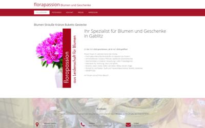 Webdesign aus Wien:<br>Design auf Theme-Basis und Umsetzung im Auftrag eines Partners; Kunde: florapassion e.U.