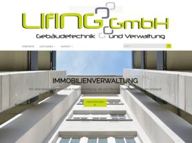 Webdesign aus Wien: Design auf Theme-Basis und Umsetzung; Kunde: LIFING Gebäudetechnik & Verwaltung GmbH