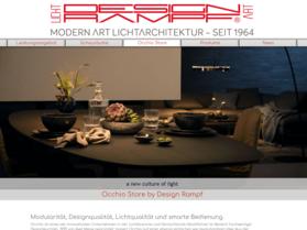 Webdesign aus Wien: Externes Design; Umsetzung im Auftrag eines Partners; Kunde: Design Rampf