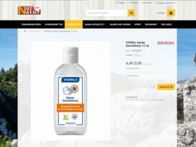 Webdesign aus Wien: Design und Relaunch des Webshop im Auftrag eines Partners; Kunde: Nur Natur pur