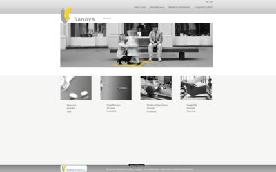Webdesign aus Wien: Externes Design; Umsetzung im Auftrag eines Partners; Kunde: Sanova Pharma GesmbH